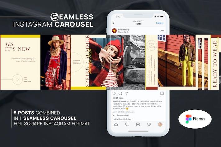 Thumbnail for Seamless Instagram Carousel - Figma