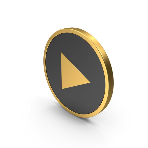 Play Button Gold Icon