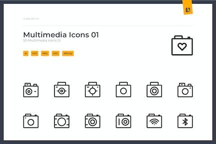 Icono - Multimedia Icon Set 01
