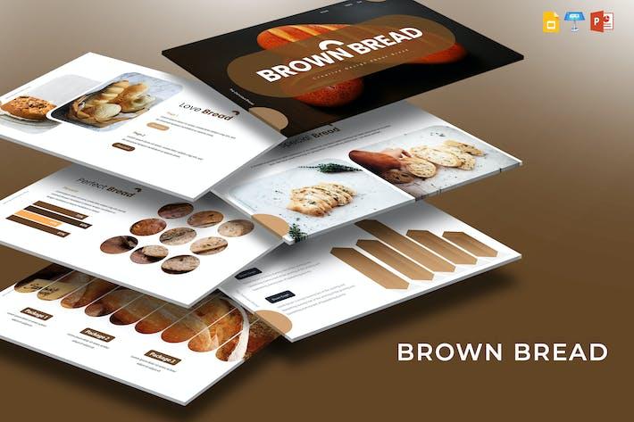 Коричневый хлеб - Шаблон презентации