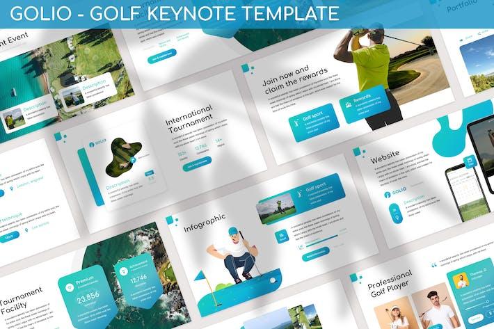 Thumbnail for Golio - Шаблон Keynote для гольфа