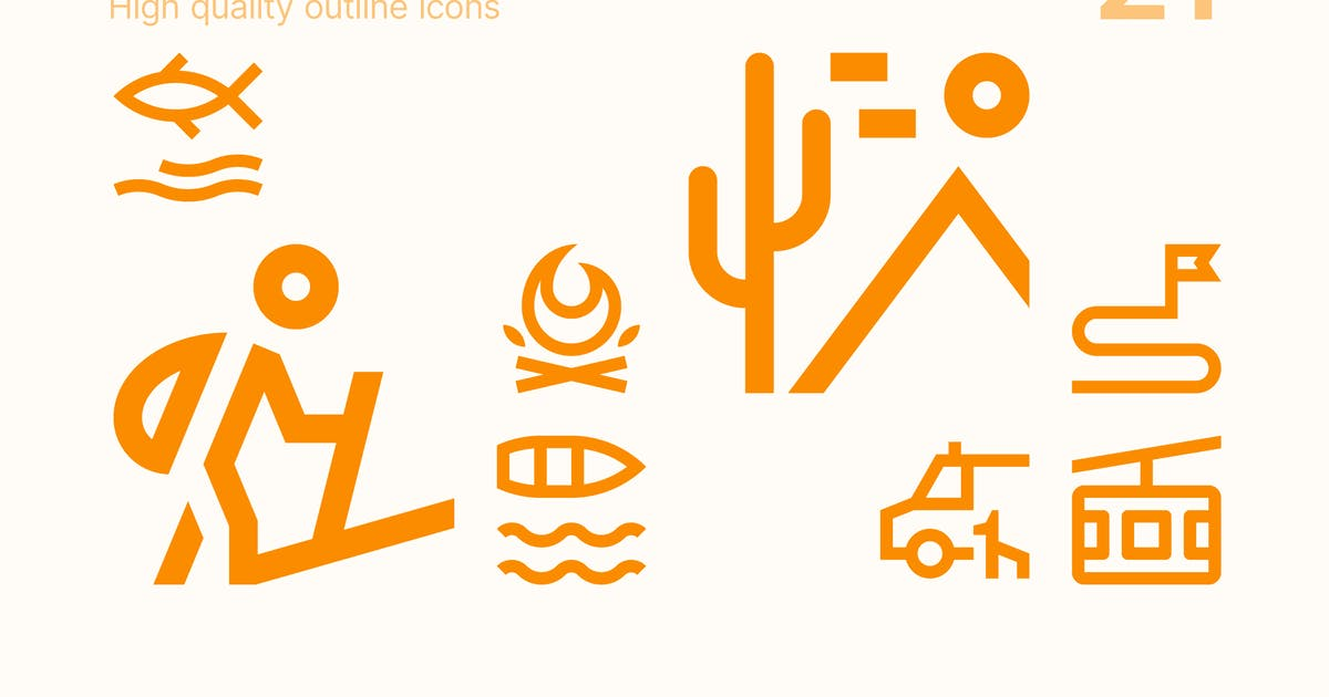 Download Outdoor Activities Icons by polshindanil
