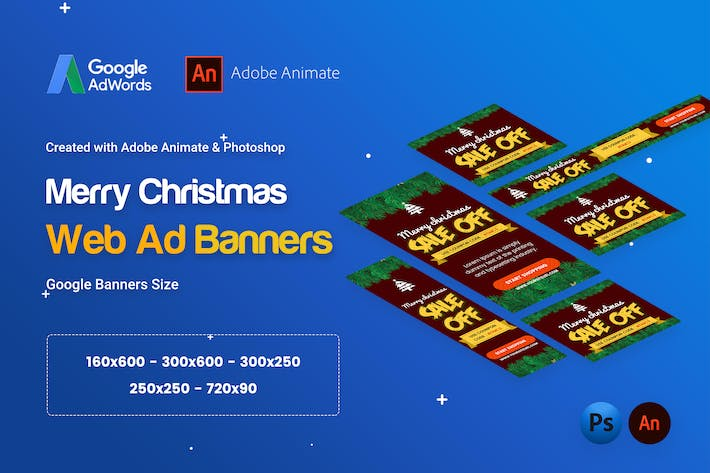 Thumbnail for Merry Christmas Banner HTML5 - Animated