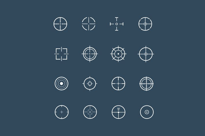 Thumbnail for 16 Crosshair Icons