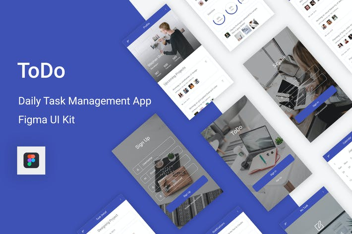 Thumbnail for ToDo - Daily Task Management Mobile App for Figma