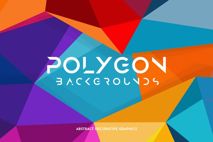 Colorful Polygon Backgrounds