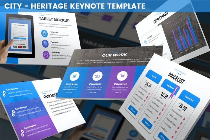 Thumbnail for City - Heritage Keynote Template