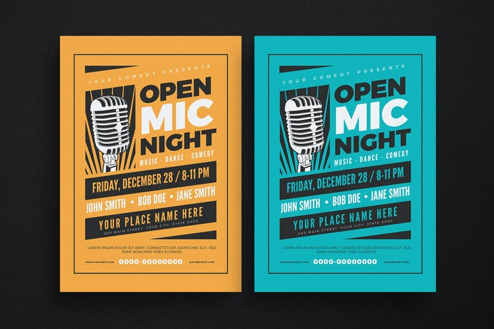 Cover Image For Open Mic Night Event Flyer