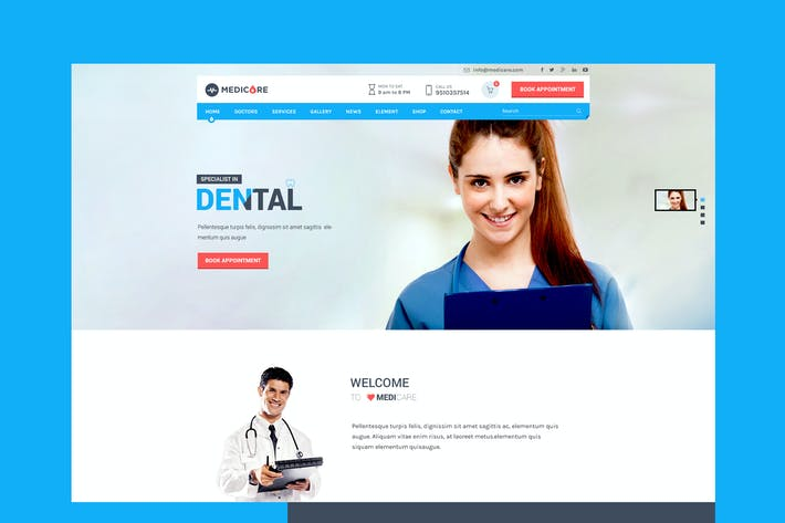 Thumbnail for Medicare - Medical & Health PSD Template