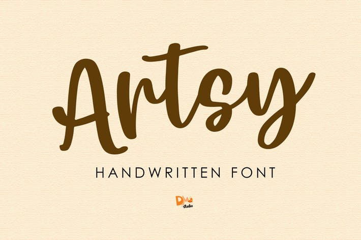 Thumbnail for Artsy - Handwritten Font