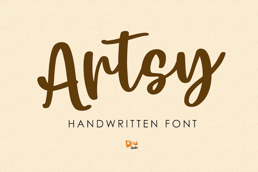 Artsy - Handwritten Font