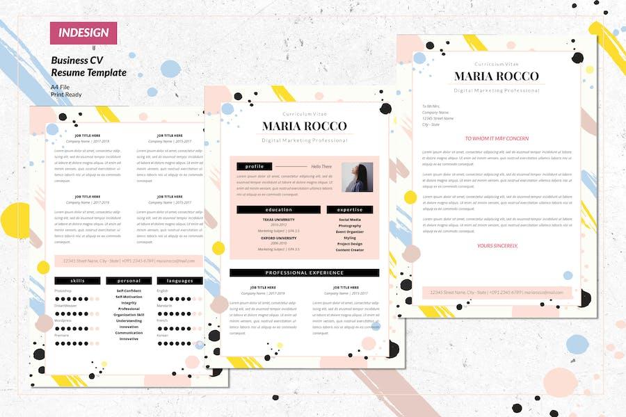 Digital Marketing Resume CV Vol. 41