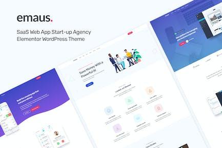 Emaus | SaaS App Startup Elementor WordPress Theme