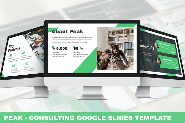 Peak - Consulting Google Slides Template