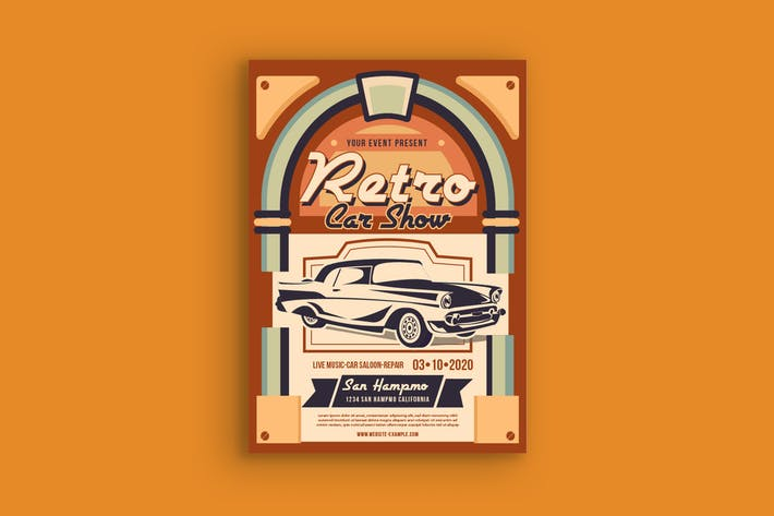 Thumbnail for Retro Car Show Poster