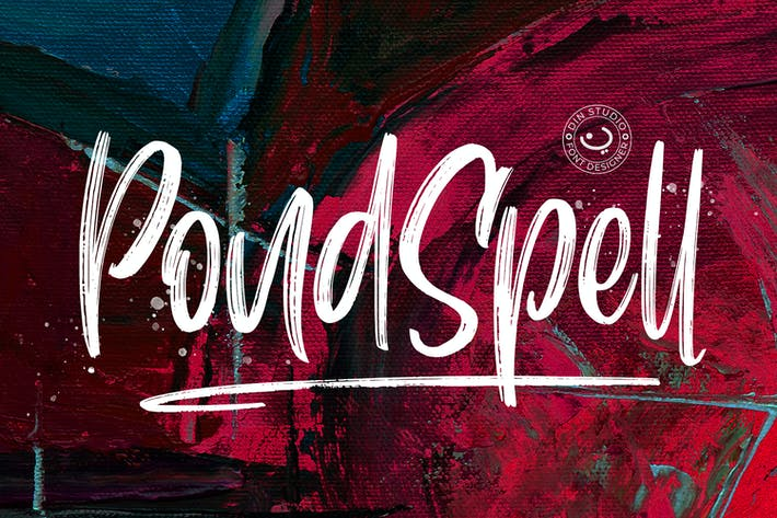 Thumbnail for Police de pinceau Pondspell