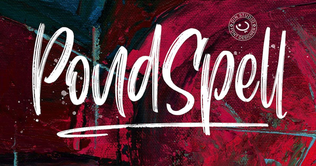 Download Pondspell Brush Font by Din-Studio