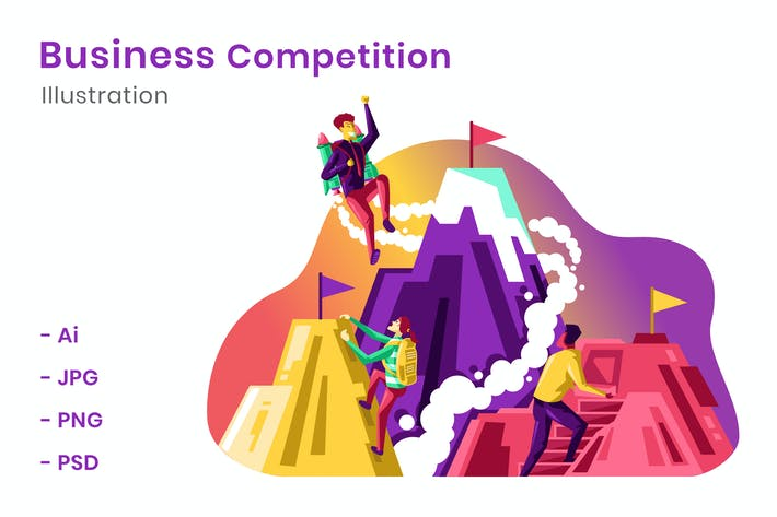 Thumbnail for Business Competition Illustration