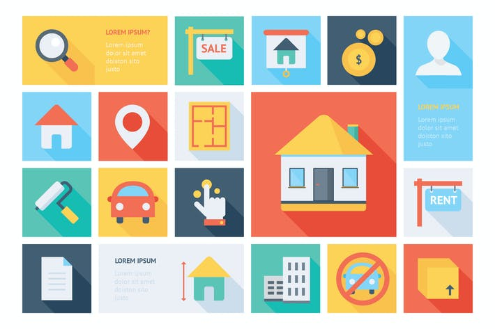 Thumbnail for Real Estate Flat Icons