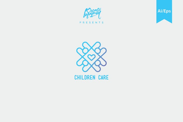 Thumbnail for Children Care Logo Template