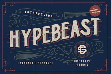 Hypebeast - Многоуровневый и винтажный шрифт