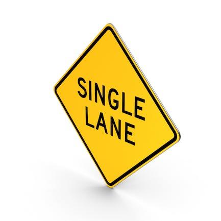 Single Lane New York State Road Sign