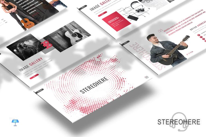 Thumbnail for Stereohere - Music Keynote Template