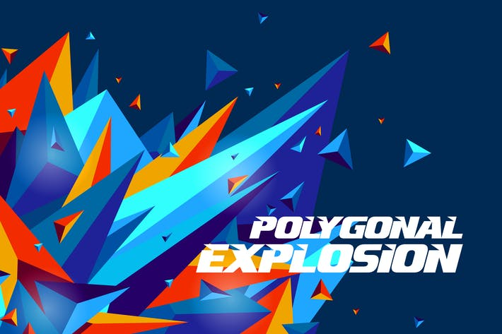 Cover Image For Polygonal Explosion Backgrounds