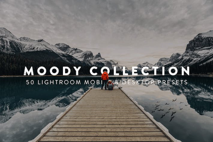 Thumbnail for 50 Moody Lightroom Presets and LUTs