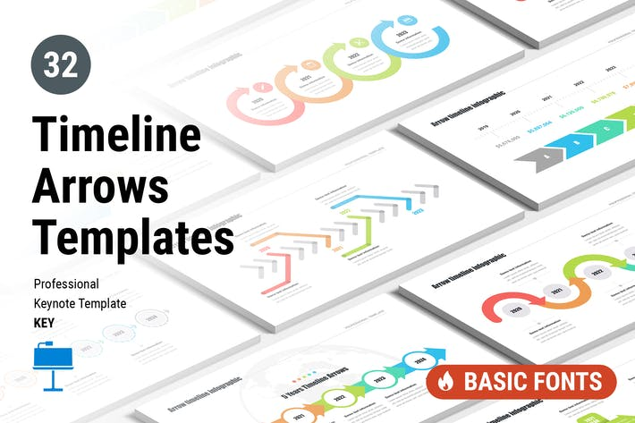 Cover Image For Timeline Arrows Templates for Keynote