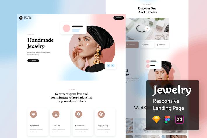 Jewelry Responsive Landing Page