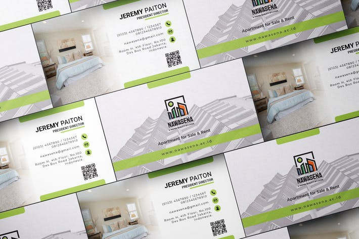 Thumbnail for Apartment - Real Estate Investment Business Card