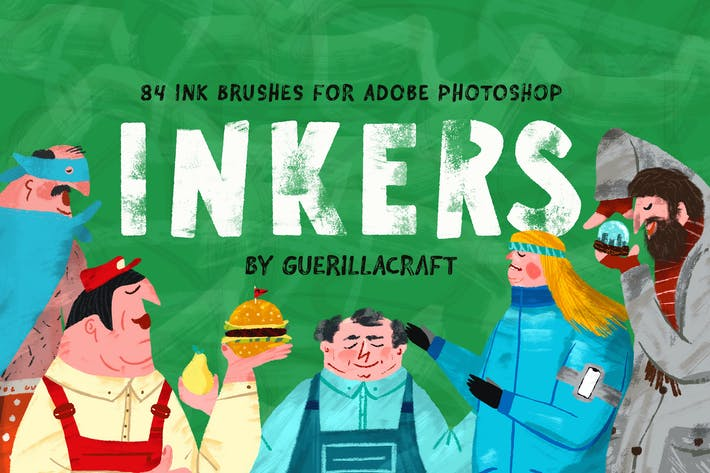 Thumbnail for Inkers Brushes for Adobe Photoshop