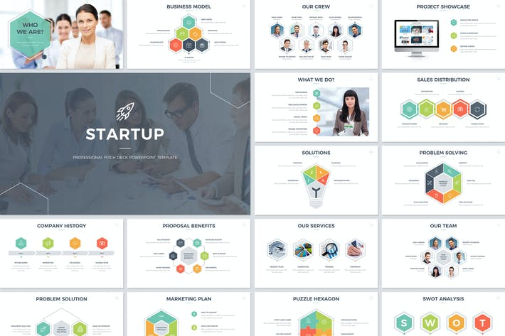 Cover Image For Startup Pitch Deck PowerPoint Template