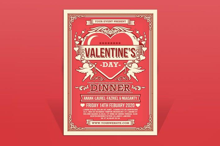 Thumbnail for Valentine's Day Dinner Flyer