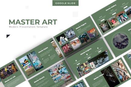 Master Art - Google PräsentationsVorlage