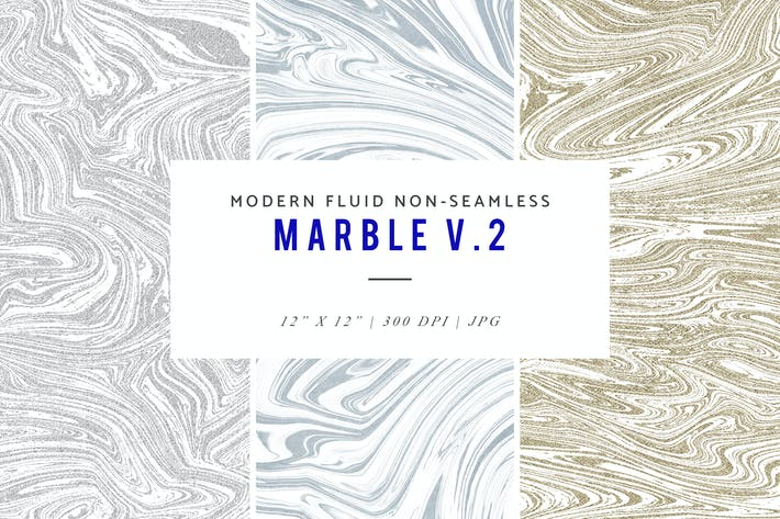 Thumbnail for Modern Fluid Non-Seamless Marble V.2 Patterns