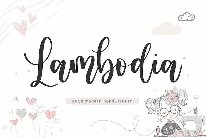 Thumbnail for Lambodia YH - Fuente de caligrafía moderna