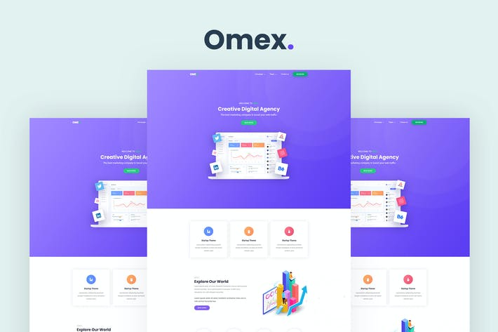 Thumbnail for Omex - Startup and SaaS Template