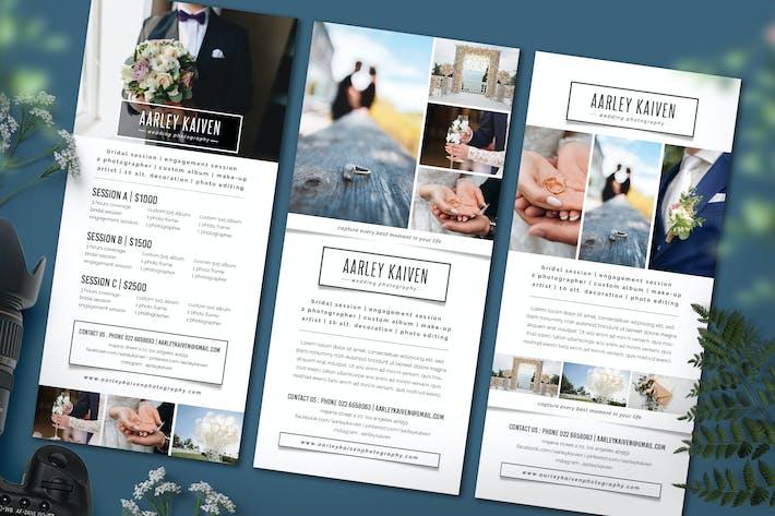 Thumbnail for Simple Wedding Photography Rack Card