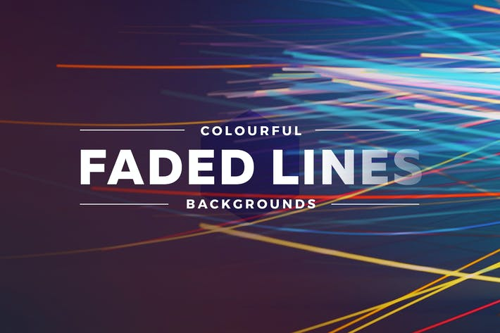 Thumbnail for Colorful Faded Lines Background