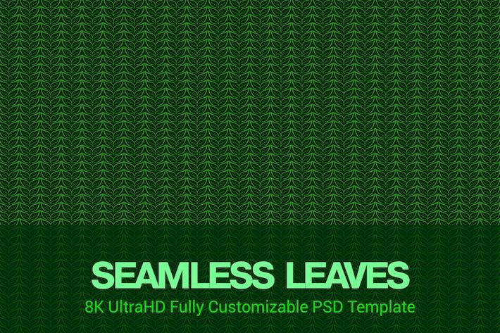 Thumbnail for 8K UltraHD Nahtlose Blätter Muster Hintergrund