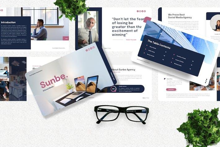 Thumbnail for Sunbe - Шаблон Googleslide в социальных сетях
