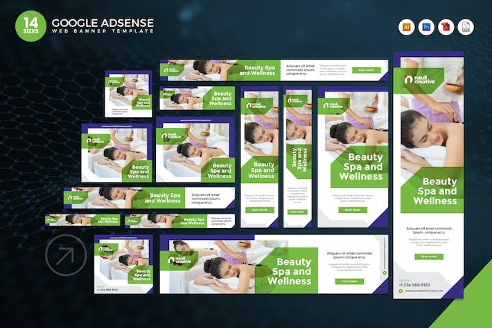 14 Beauty Spa Google Adsense Web Banner