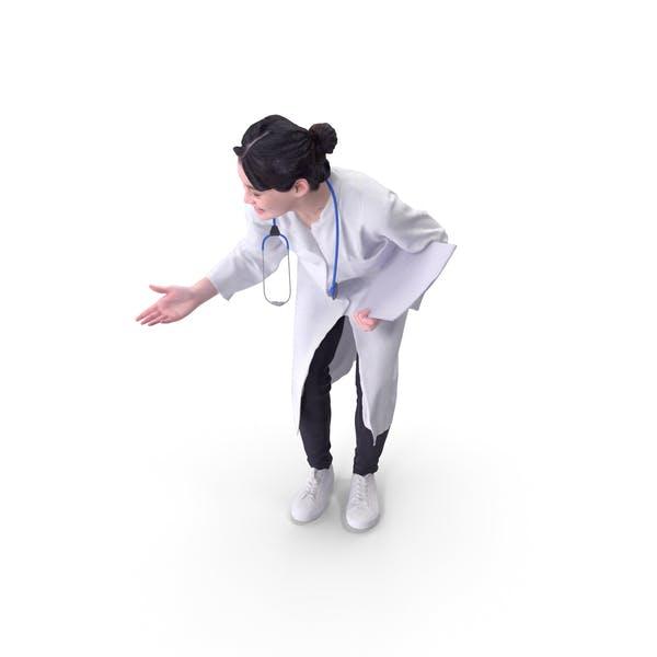 Doktor Frau posierte