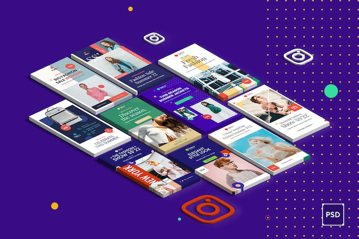 Thumbnail for Fashion Instagram Stories PSD Template