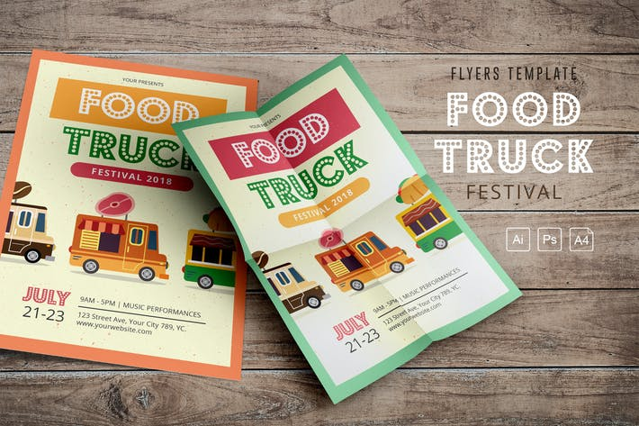Thumbnail for Food Truck Festival 2018 Flyers