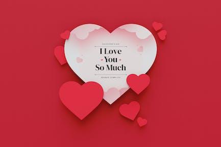 Valentine's Day Heart Mockup
