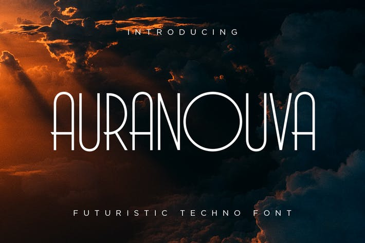 Thumbnail for Auranouva - Techno Font