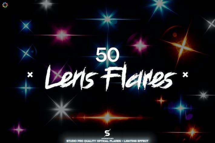 Optische Flares - 50 Lens Flares Lichteffekte